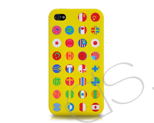 Flagge Series iPhone 4 and 4S Silicone Case - Yellow