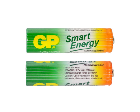 GP Rechargeable Smart Energy AA Batteries, 4 Count/Pack