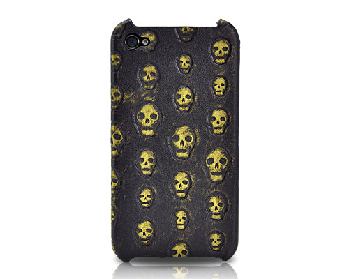 Halloween Series iPhone 4 and 4S Case - Gold Skull