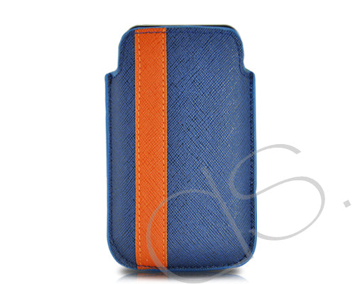 Lofty Series iPhone 4 and 4S Soft Pouch Case - Blue Orange