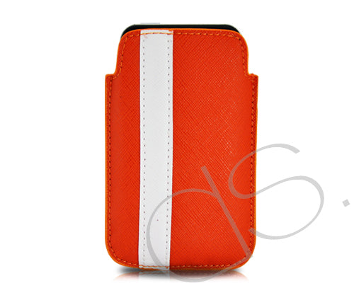 Lofty Series iPhone 4 and 4S Soft Pouch Case - Red White