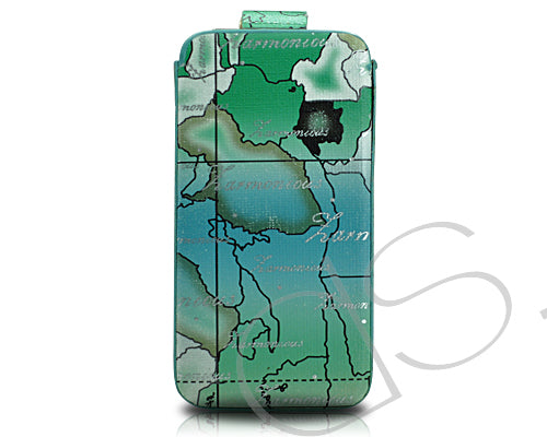 Map Series iPhone 4 and 4S Soft Pouch Case - Green