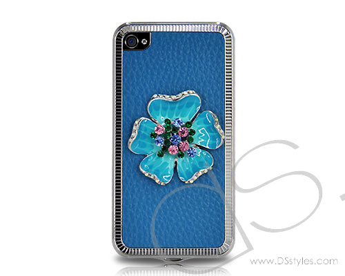 Mini Flower Series iPhone 4 and 4S Case - Blue