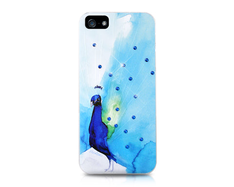 Peacock Teal Bling Swarovski Crystal Phone Cases