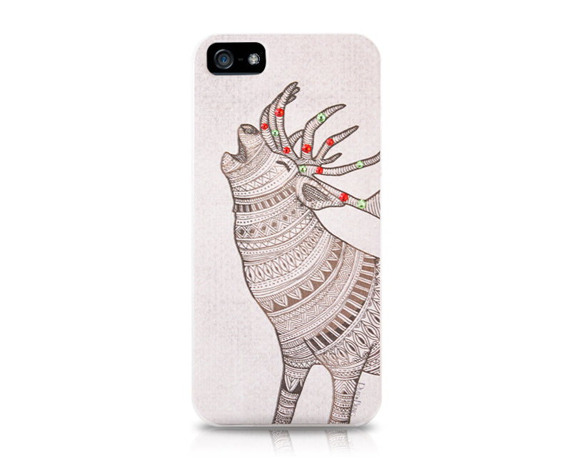 Christmas Caribou Bling Swarovski Crystal iPhone 8 Cases