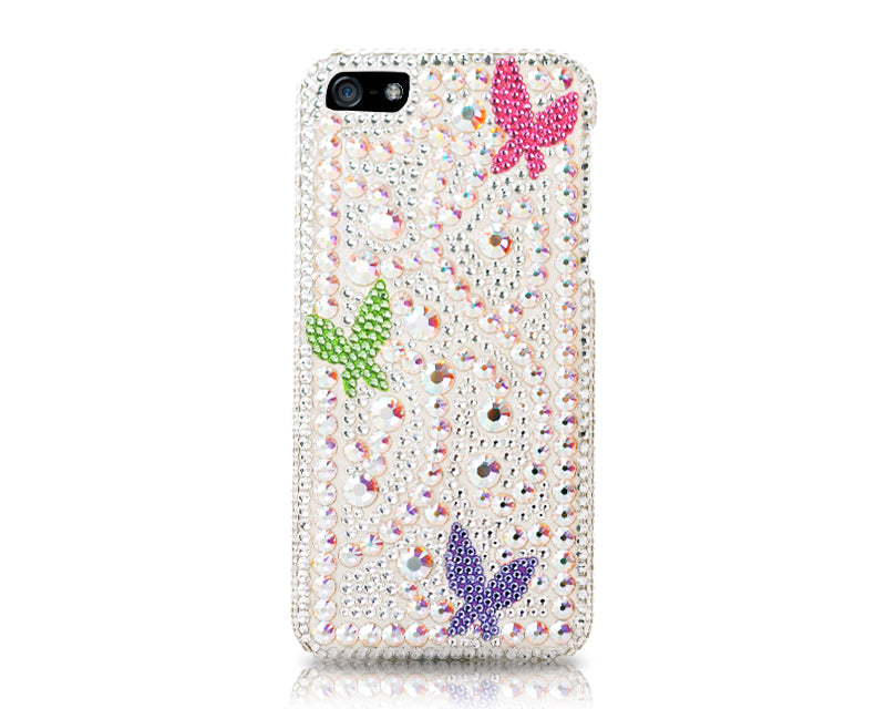 Ivy Butterfly Bling Swarovski Crystal Phone Cases - Rainbow