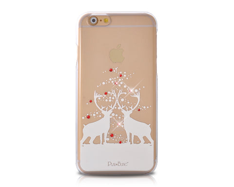 Christmas Fairy Reindeer Bling Swarovski Crystal iPhone 8 Cases - Transparent