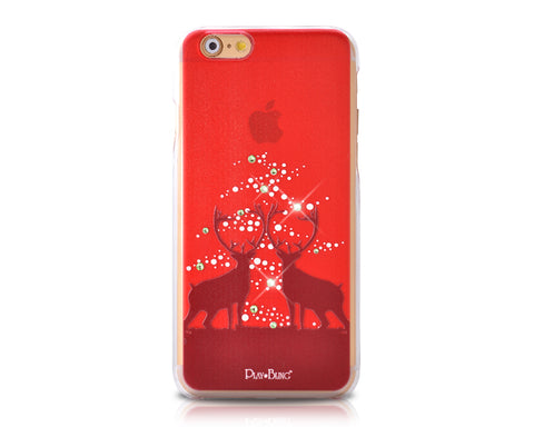 Christmas Fairy Reindeer Bling Swarovski Crystal iPhone 8 Cases - Red