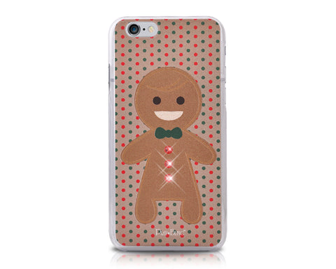 Christmas Smiling Puppet Bling Swarovski Crystal iPhone 8 Cases - Boy