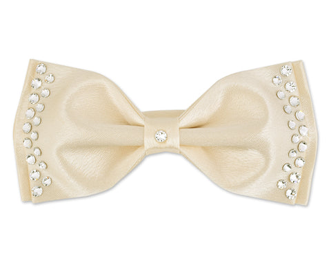 Men's Wedding Bow Tie with Dazzling Swarovski Crystal - White