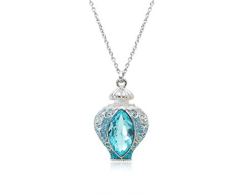 5cm Antique Perfume Bling Crystal Necklace - Blue