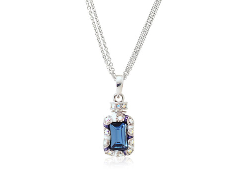 2.1cm Seta Single Fragrance Bling Crystal Necklace - White