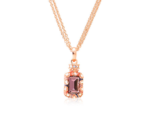 2.1cm Seta Single Fragrance Bling Crystal Necklace - Gold