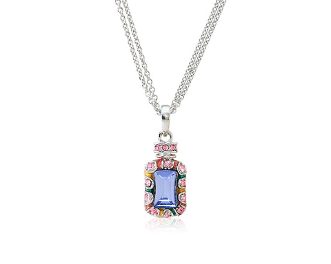 2.1cm Seta Single Fragrance Bling Crystal Necklace - Pink