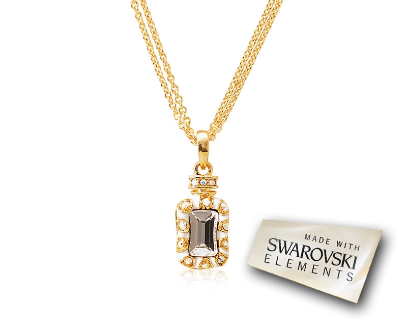 2.1cm Seta Single Fragrance Bling Crystal Necklace - Yellow