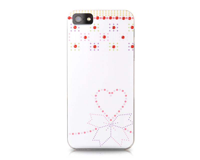 Ribbon Heart BBling Swarovski Crystal Phone Cases