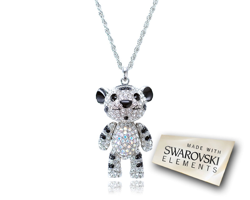 Childhood Collection Swarovski Crystal Tiger Pendant Necklace - Silver