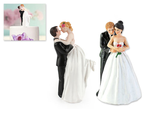 Bride and Groom Cake Topper Cake Figurine for Wedding Cake Decoration