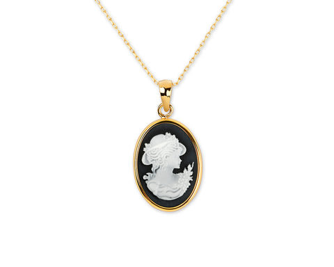 Cameo Necklace Costume Jewelry Gift for Women