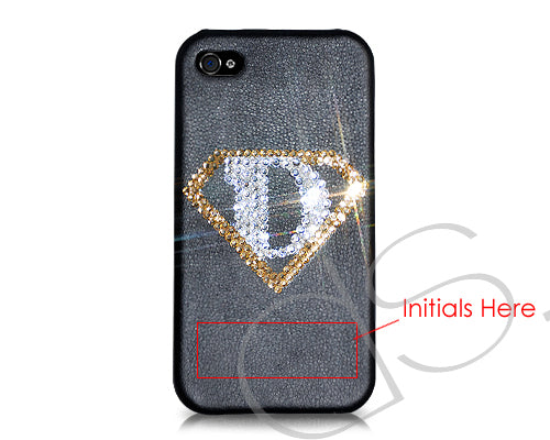 Personalized  Super Dad Bling Swarovski Crystal Phone Cases