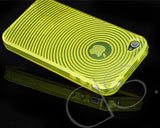 Swirling Series iPhone 4 and 4S Silicone Case - Yellow