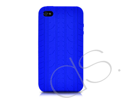 Wheel Series iPhone 4 Silicone Case - Blue
