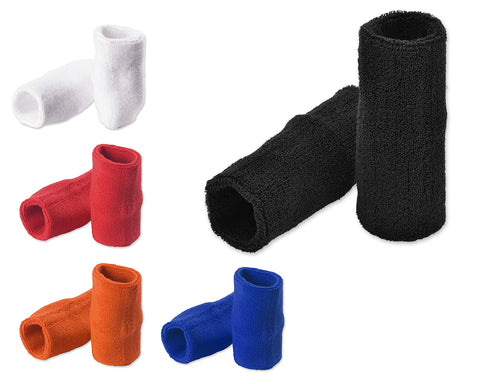 Pair of 4 inches Outdoor Sports Athletic Cotton Wristbands