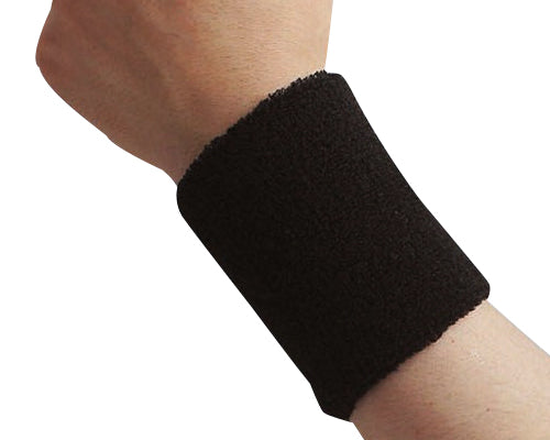Pair of 6 inches Outdoor Sports Athletic Cotton Wristbands