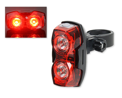 3-Mode Adjustable Rear LED Bike Light - Red