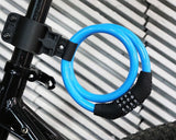2 Feet Bicycle Resettable Combination Spiral Cable Lock - Blue