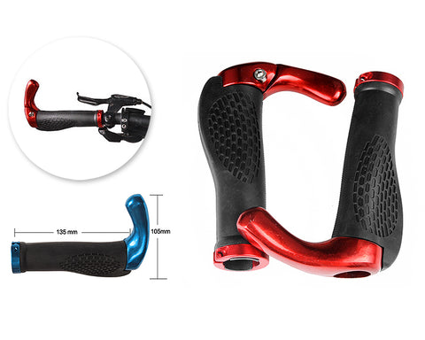 2 Pcs Cool Ergonomic Bicycle Mountain Bike MTB Handlebar Grips - Red