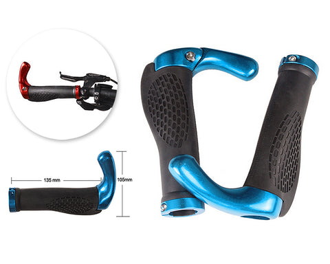 2 Pcs Cool Ergonomic Bicycle Mountain Bike MTB Handlebar Grips - Blue