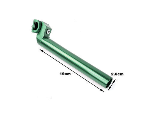 Alloy Cycling Bike MTB Fixie Bike Seatpost 27.2mm x 220mm - Green