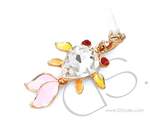 Crystal Pisces Headphone Jack Plug