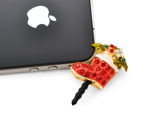Christmas Stocking Crystal Headphone Jack Plug