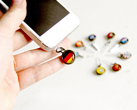 World Cup Series Handmade Headphone Jack Plug - Italy