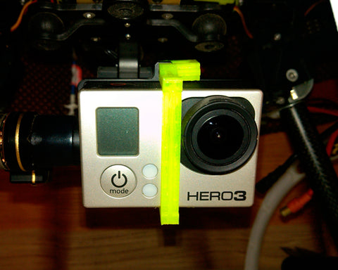 GoPro Screwless Zenmuse Bracket for DJI Phantom 2 H3-3D Gimbal -Yellow
