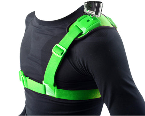 GoPro Single Shoulder Strap Mount Harness for All Hero Camera - Green