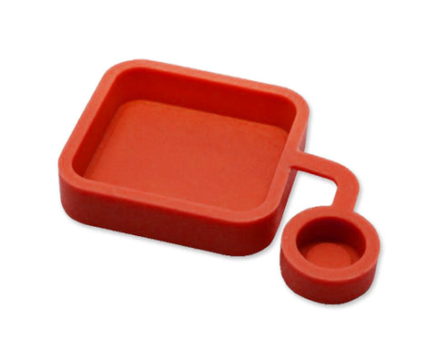 GoPro Soft Silicone Lens Cover Cap for Hero 3+ Camera Housing - Red