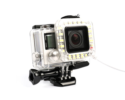 GoPro LED Ring Shooting Night Flash Light for Hero 3+ / Hero 4 Camera