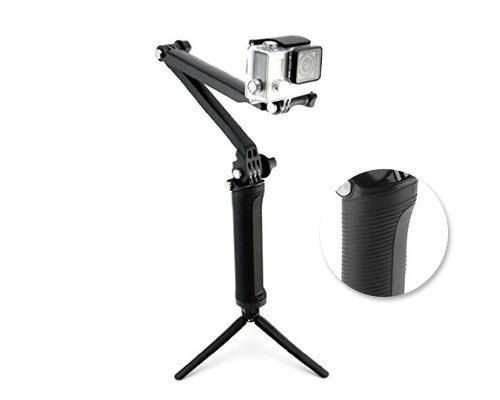 GoPro 3 Way Adjustable Extension Arm Hand Grip Tripod for Hero Camera