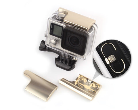 GoPro Replacement Rear Snap Latch Housing Lock for Hero 3+/4-Champagne