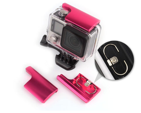 GoPro Replacement Rear Snap Latch Housing Lock for Hero 3+/4 - Magenta