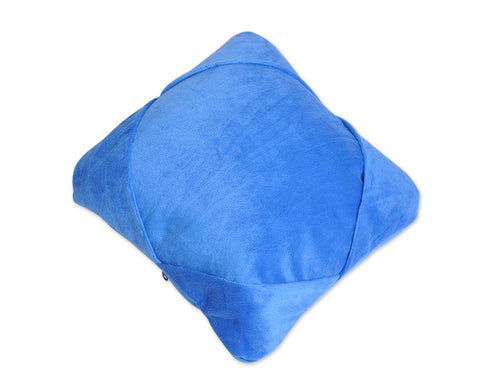 Multifunctional U-Shape Travel Pillow Tablet Holder Cushion - Blue