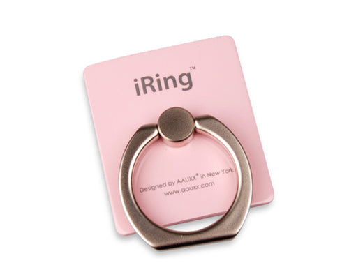 iRing Universal Bunker Ring Grip Holder Cell Phone Stand - Pink