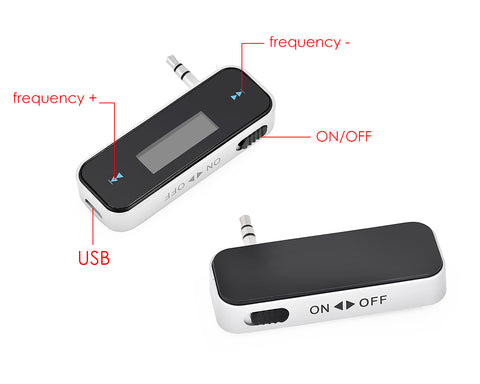 In-Car Wireless FM Transmitter for iPhone / Android Smartphones