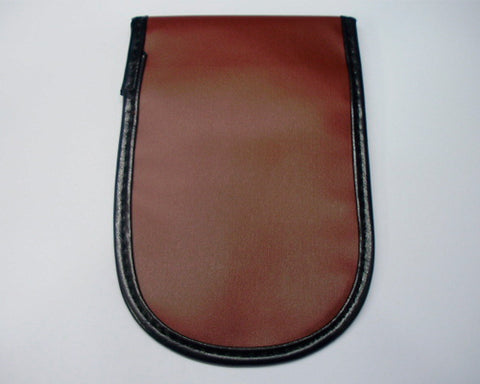 Signal Blocking Leather Pouch Case for Smartphone-Brown