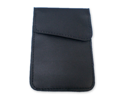 Anti-Radiation/ Signal Blocking Leather Pouch for Smartphone - Black