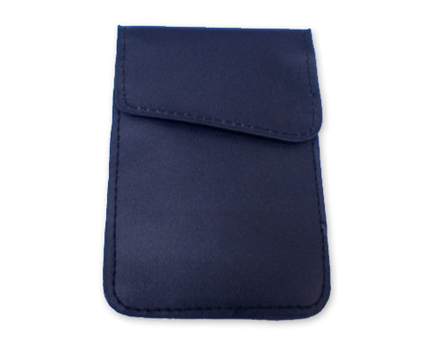 Anti-Radiation/ Signal Blocking Leather Pouch for Smartphone - Blue