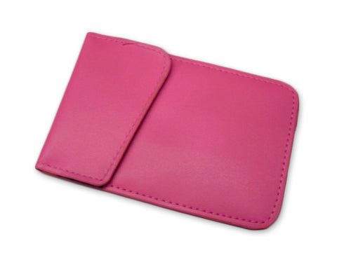 Anti-Radiation/ Signal Blocking Leather Pouch for Smartphone - Magenta